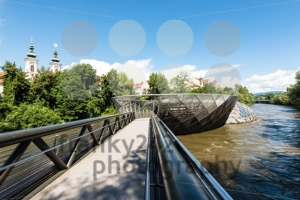 Entering the artificial Mur Island in Graz, Austria - franky242 photography
