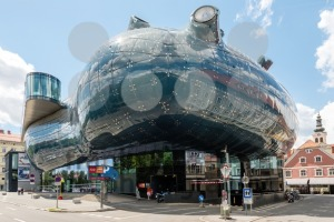 Kunsthaus Graz, the art museum of the city also known as friendly alien - franky242 photography