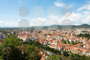 Skyline of Graz, the second-largest city of Austria - franky242 photography