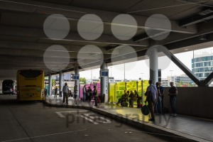 Two long distance busses in the new Stuttgart Central Bus Station - franky242 photography