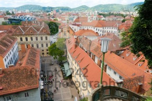 View of the Schlossbergplatz, castle hill square, in Graz , Austria - franky242 photography