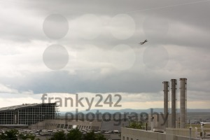 Airplane leaving Stuttgart airport - franky242 photography
