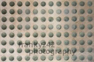 Concrete floor with round glass inlets - franky242 photography
