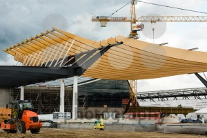 Construction Site of a new exhibition hall in Stuttgart, Germany - franky242 photography