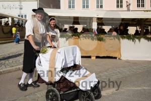 Couple with baby at historic festival - franky242 photography