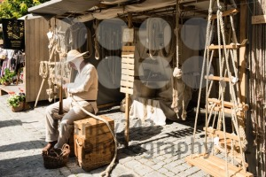 Historic Ropemaker in front of his workshop - franky242 photography