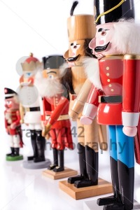 Row of five antique nutcrackers - franky242 photography
