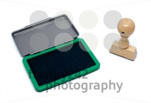 Rubber stamp with pad - franky242 photography