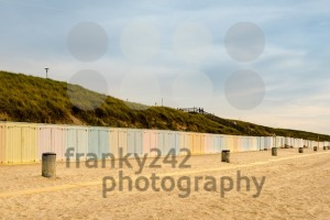 Colorful beach lockers - franky242 photography