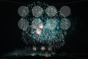 Huge Turquoise Fireworks - franky242 photography