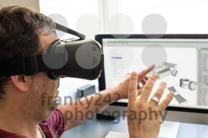 Male engineer with VR glasses - franky242 photography