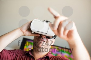 Man wearing VR glasses - franky242 photography