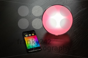 Apple iPhone being used to control a Philips Hue smart home light - franky242 photography