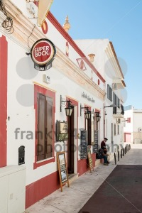 Cozy Portuguese facades with cafe and elderly inhabitants - franky242 photography