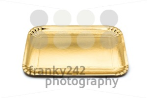 Empty golden paper food tray - franky242 photography