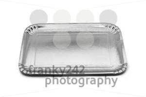 Empty silver paper food tray - franky242 photography
