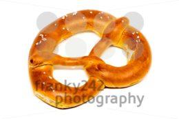 German pretzel (Bretzel) on white