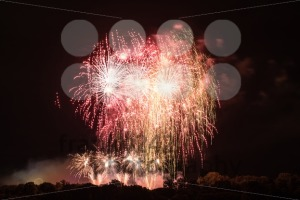 Huge Red Fireworks - franky242 photography