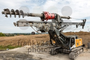 Large rotary drill on construction site - franky242 photography