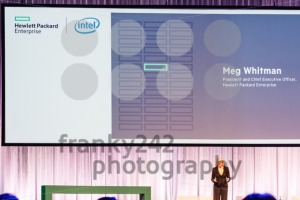HPE president and chief executive officer Meg Whitman delivers a speech - franky242 photography