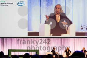 HPE president and chief executive officer Meg Whitman in conversation with other HPE managers - franky242 photography