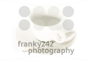empty espresso cup on white - franky242 photography