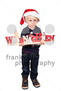 Boy with German Christmas greetings - franky242 photography