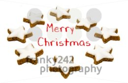 Christmas greetings – cookies and text