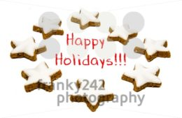 Holiday greetings – cookies and text