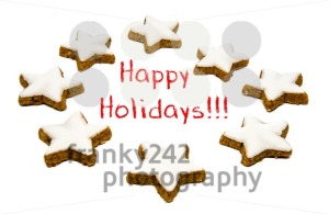 Holiday greetings - cookies and text - franky242 photography