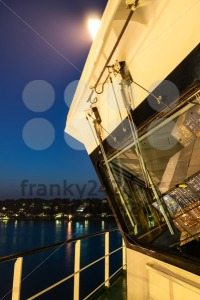 On board of a large container ship at night - franky242 photography