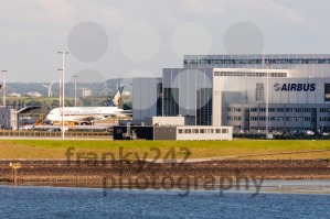 Singapore Airlines plane being fitted at the Airbus plant in Hamburg FInkenwerder - franky242 photography