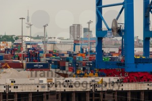 View from the Container Terminal Altenwerder on Hamburg - franky242 photography