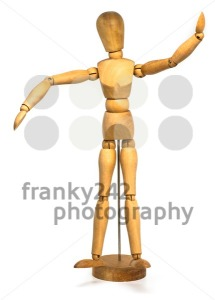 Wooden dummy isolated on a white background - franky242 photography