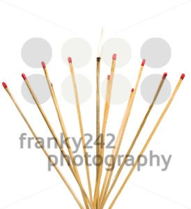 matches isolated on a white background - franky242 photography