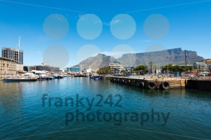 Famous V&A waterfront of Cape Town with table mountain background - franky242 photography