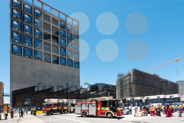 Fire department on construction site of the new Zeitz Museum of Contemporary Art of Africa in Cape Town - franky242 photography