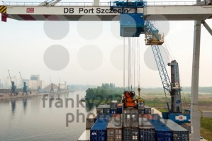 Unloading a container ship in Stetting sea port, Poland - franky242 photography