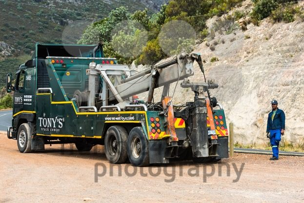 heavy duty wrecker used for towing semi trucks - franky242 photography