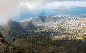 Aerial view on downtown area of Cape Town, South Africa - franky242 photography