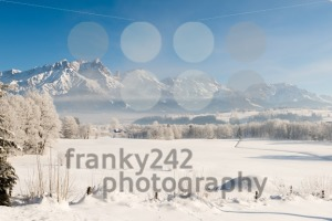 Austrian Winter Wonderland with mountains, fresh snow and haze - franky242 photography
