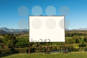 Large blank billboard in nice scenery - franky242 photography