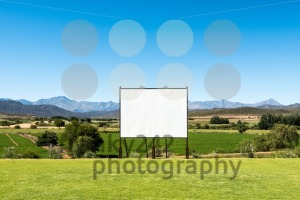 Panoramic view of big blank billboard in nice scenery - franky242 photography