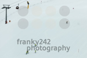 Preparation of a skiing slalom course - franky242 photography
