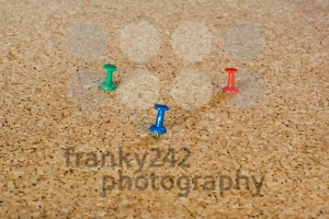 Thumbtack pins on pinboard - franky242 photography