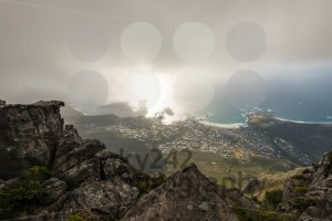 Aerial view on Camps Bay area of Cape Town, South Africa - franky242 photography