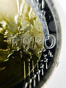 Closeup of EURO coin - franky242 photography