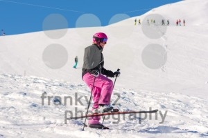 Female skier having fun in fresh snow - franky242 photography