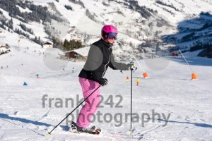 Female skier in ski area - franky242 photography