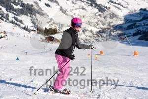 Female skier in ski area - franky242 photography